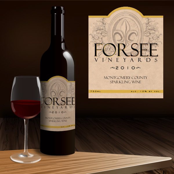 Forsee Vineyards Wine Label