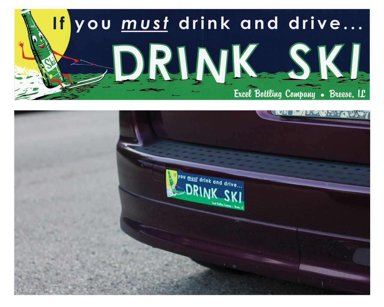 Ski Bumper Sticker